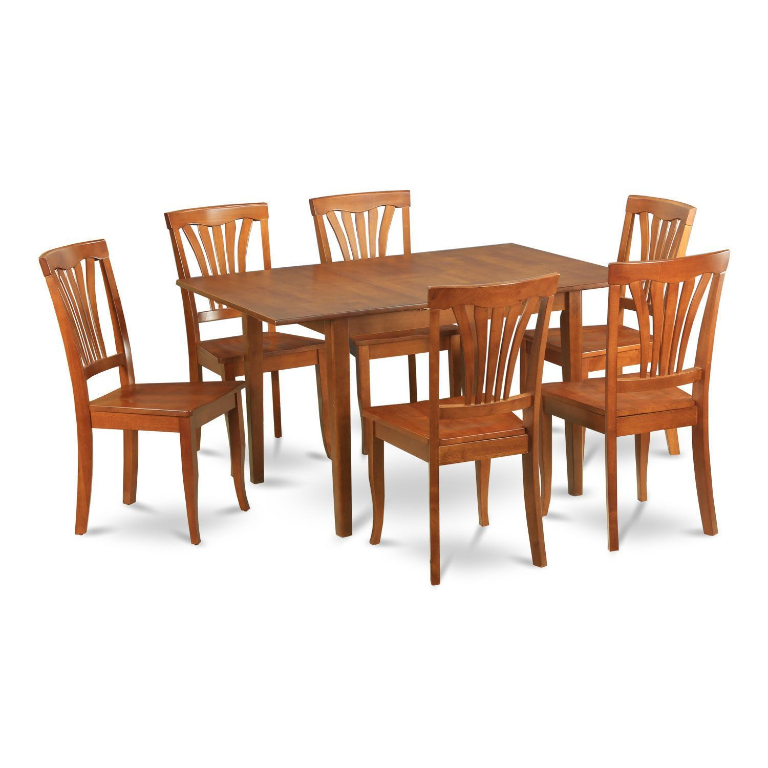 7 Piece Dinette Set For Small Spaces Small Kitchen Table And 6 Kitchen  Chairs