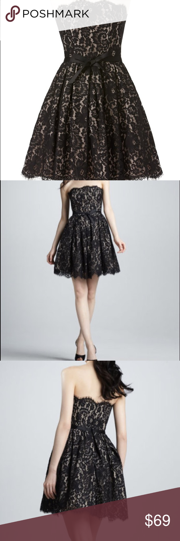 Narcisco Rodriguez Lace Strapless Cocktail Dress Strapless Cocktail Dresses Cocktail Dress Lace Target Dress [ 1740 x 580 Pixel ]