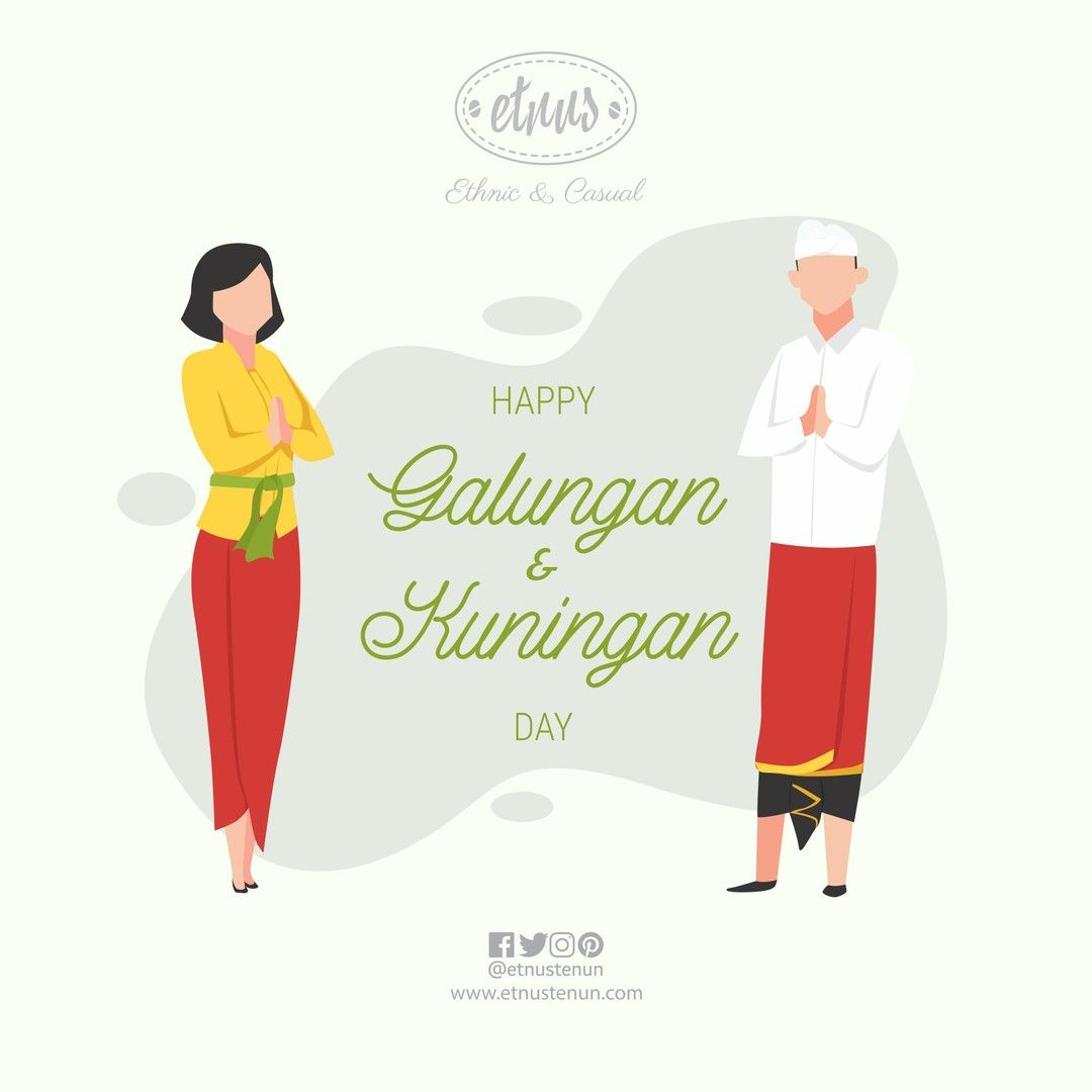 Bali Is A Home For Thousand Temples To Visit And Traditions To Celebrate Etnus Tenun Is Wishing You A Blessed Balinese Day Of Galungan And Kuningan Galung