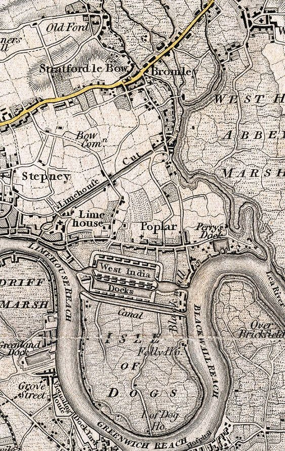 Bow, Bromley and Poplar Maps Map, Illustrated map