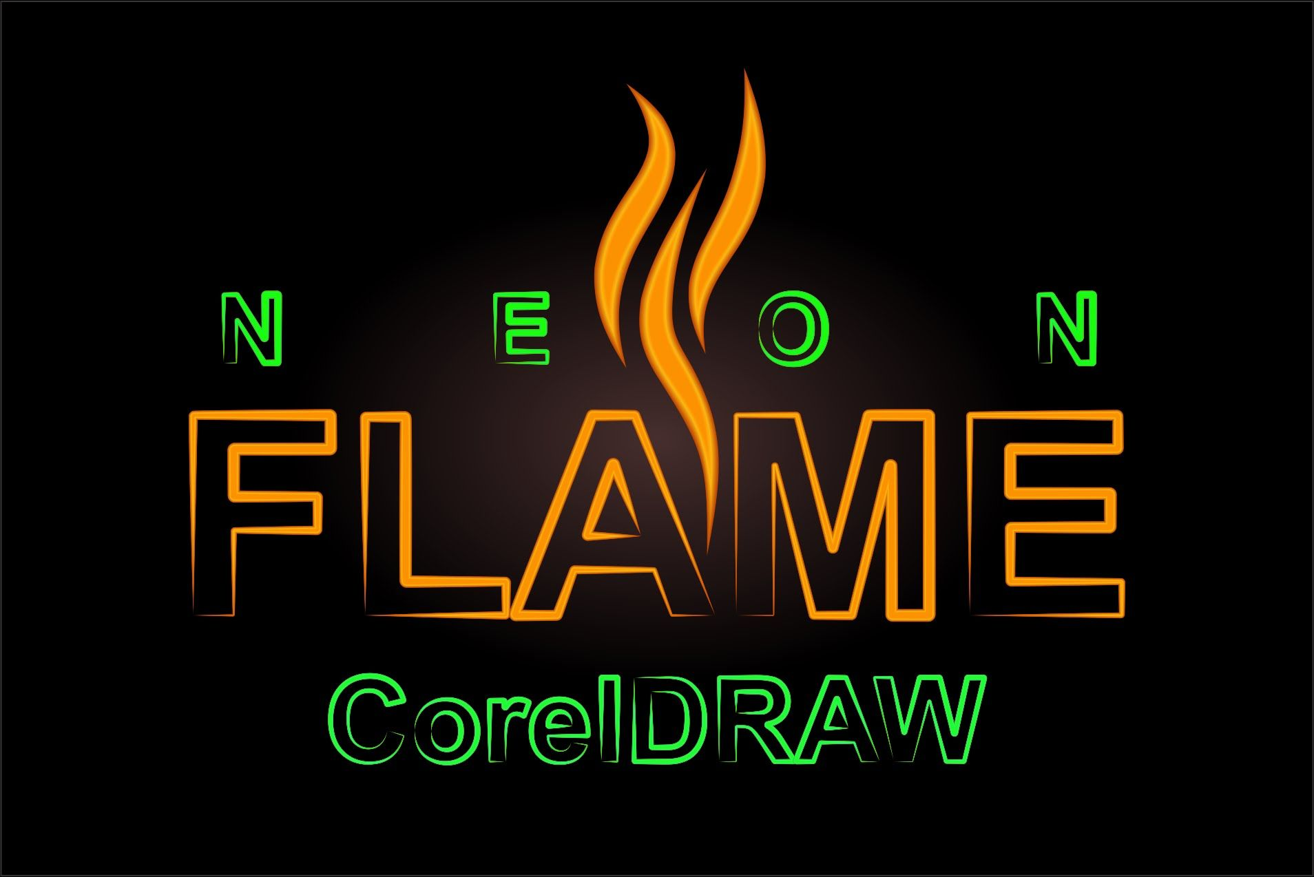 CorelDRAW: How to create a neon text effect ( video inspiration