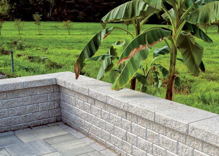 Mur nostalgie granit gris clair jardin pinterest for Jardin mur gris