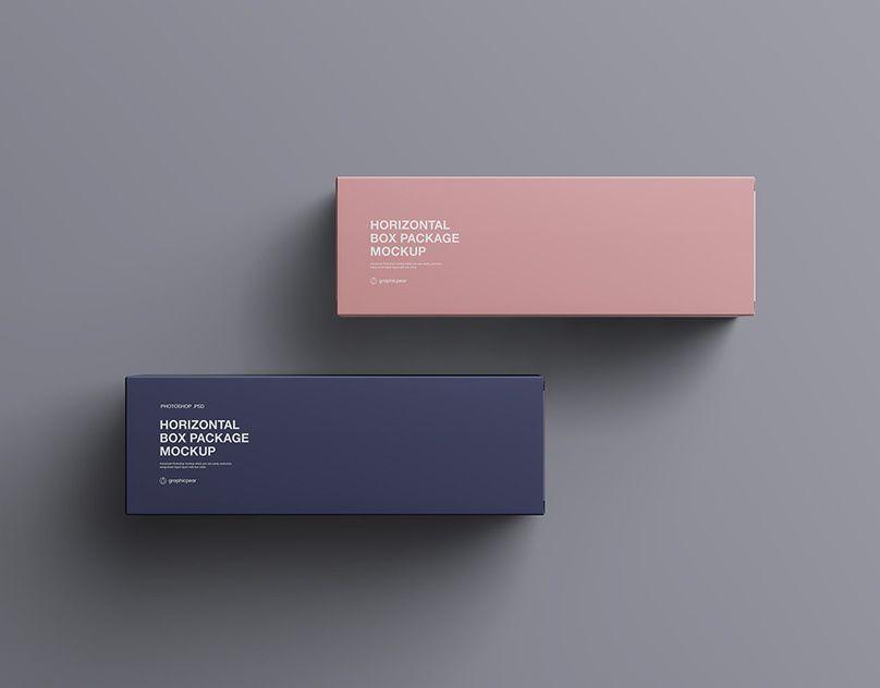 Download Horizontal Package Box Mockup Mockup Packaging Box Box Mockup Isometric