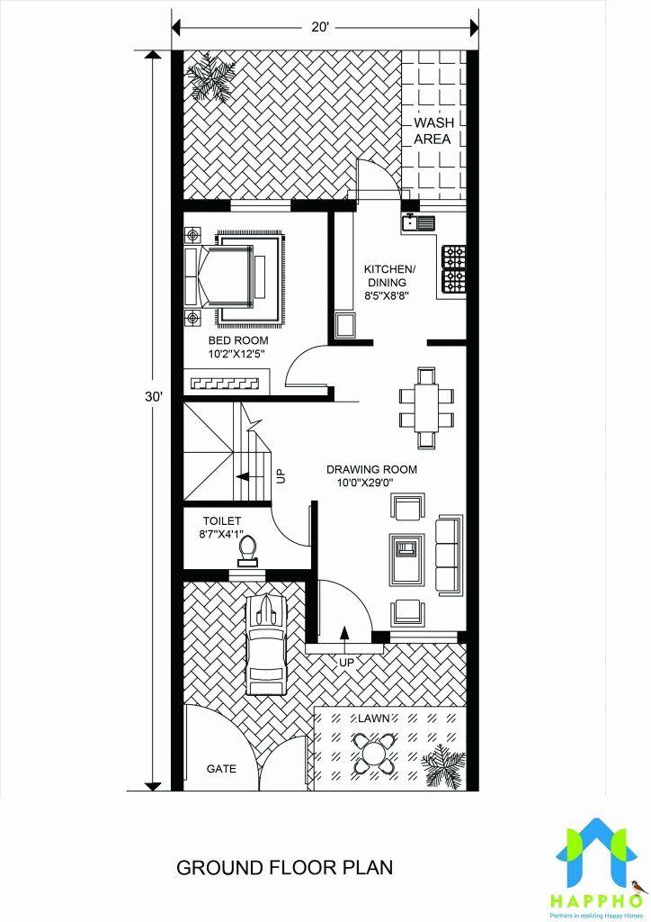 10 X 20 House Plans Lovely Floor Plan for 20 X 30 Feet Plot – Laurenshahst
