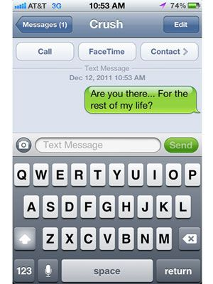 Flirty text message ideas