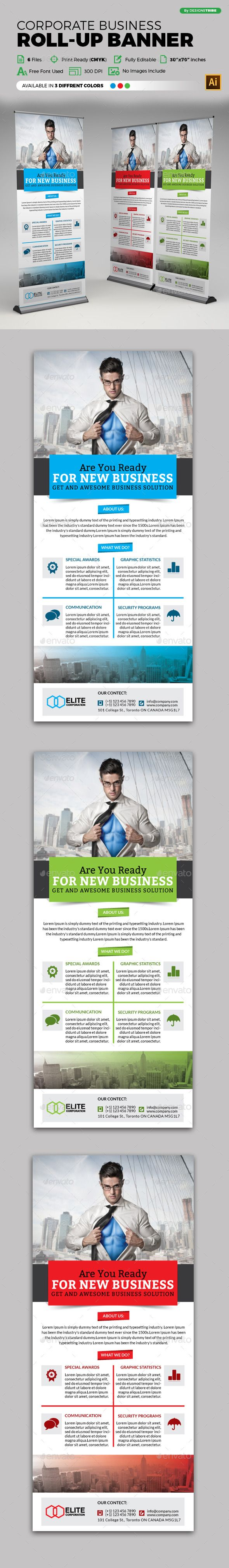 Corporate Roll-up Banner Tempalte #design Download: http://graphicriver.net/item/corporate-rollup-banner/12920772?ref=ksioks