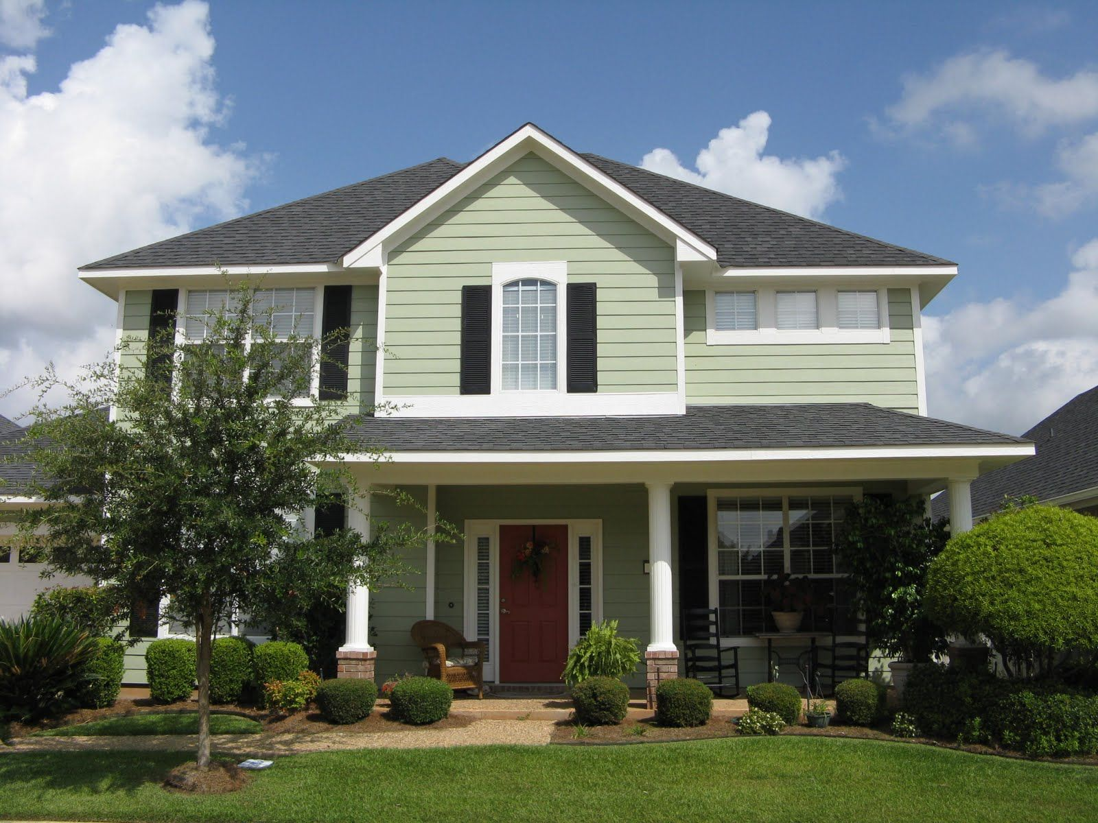 Exterior home colors green -