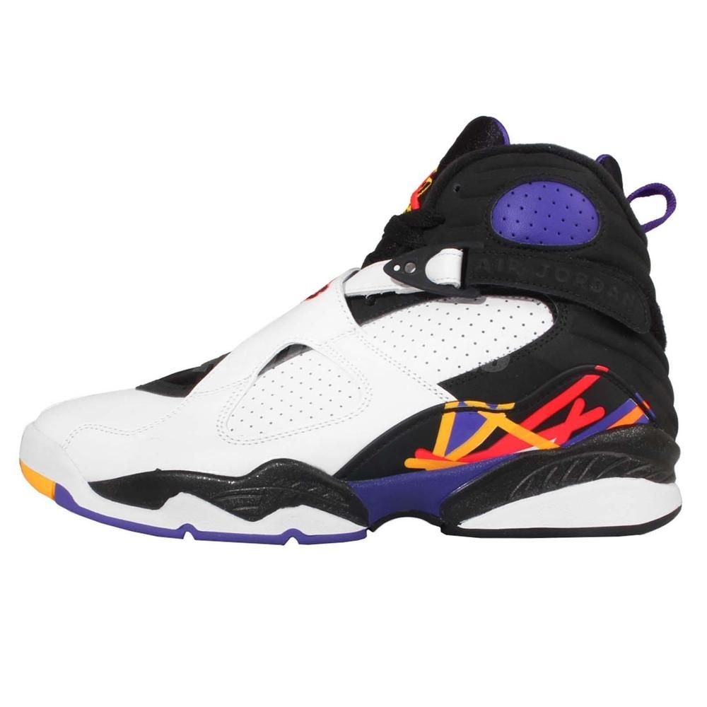 72304a84f457e1 Nike Air Jordan 8 Retro VIII 3-Peat Three Peat White Infrared Concord 305381 -142