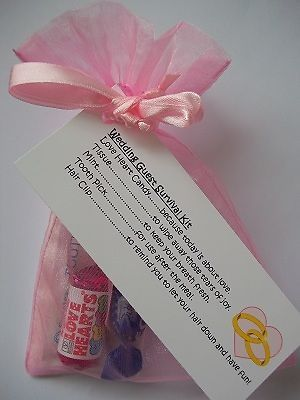 Personalised wedding favour guest survival kit gift | Pinterest ...
