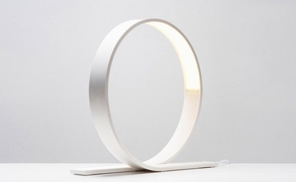 Loop, a minimalist LED table lamp, is created by designer Timo Niskanen from Finland