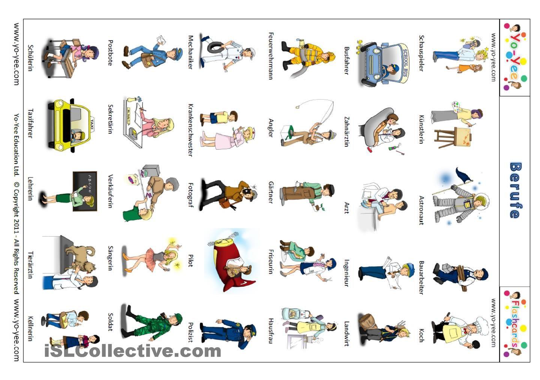 yo yee berufe flashkarten signalkarten bildkarten berufe deutsch lernen und richtig. Black Bedroom Furniture Sets. Home Design Ideas