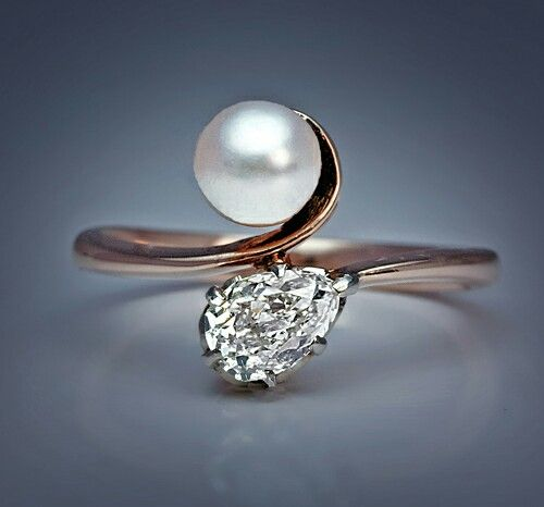 My Wedding Ring Pearl And Diamond Byp From 1900