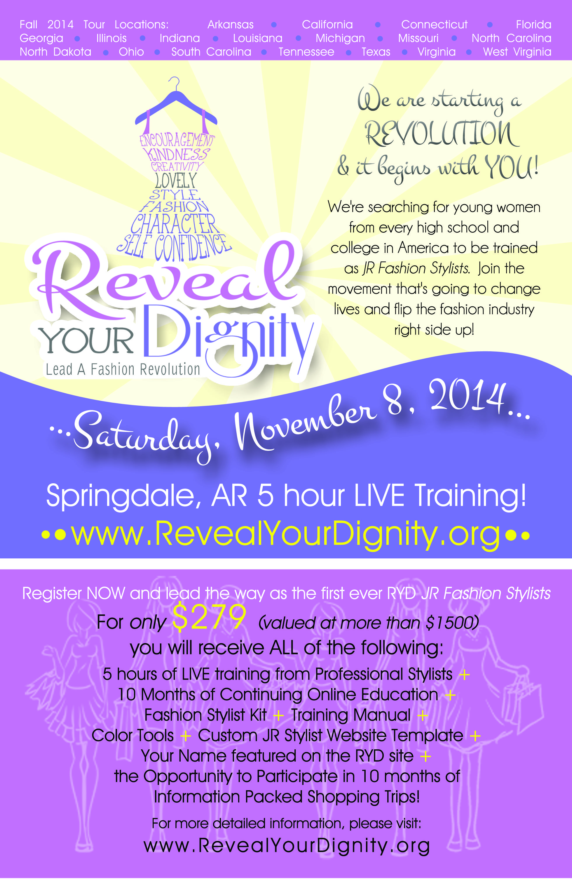 Saturday, November 8, 2014 in Springdale, AR training for
