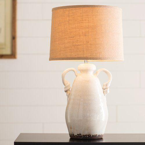 Lila twisted handle terra cotta 26 table lamp set birchlane