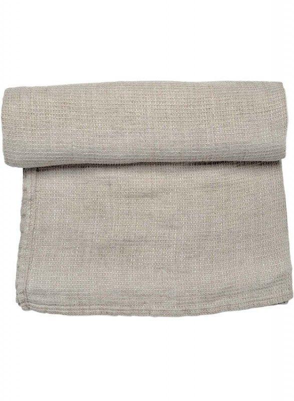 Light grey towel pure linen for bath and sauna - Linen Fashion