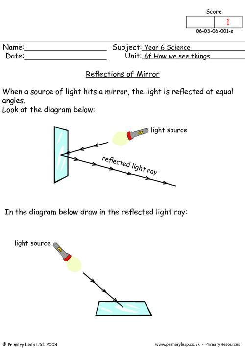 PrimaryLeap.co.uk - Mirror reflections Worksheet | vedant agarwal ...