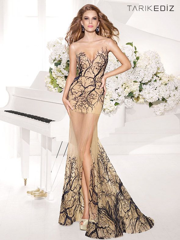 18 evening dresses by Tarik Ediz 2014. Interesting to have a gap in ...