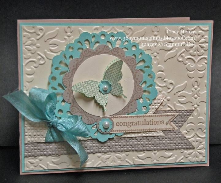Elegant Butterfly Congrats by 3boymom - Cards and Paper Crafts at Splitcoaststampers