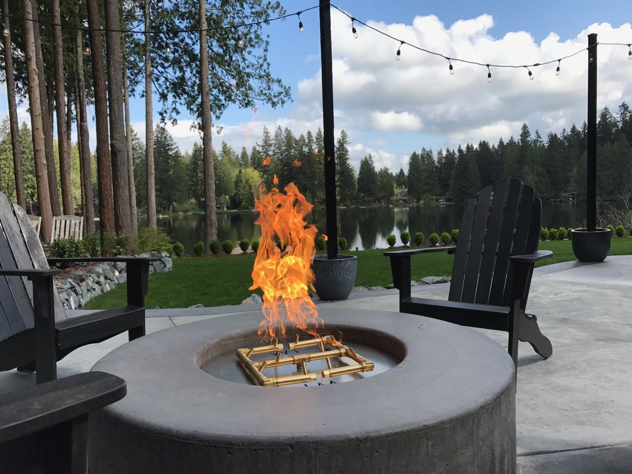 Love The Huge Flames This Warming Trends Crossfire Burner Puts Out Twice The Flame Half The Gas 12 24 Inch Flame H Cool Fire Pits Fire Pit Custom Fire Pit