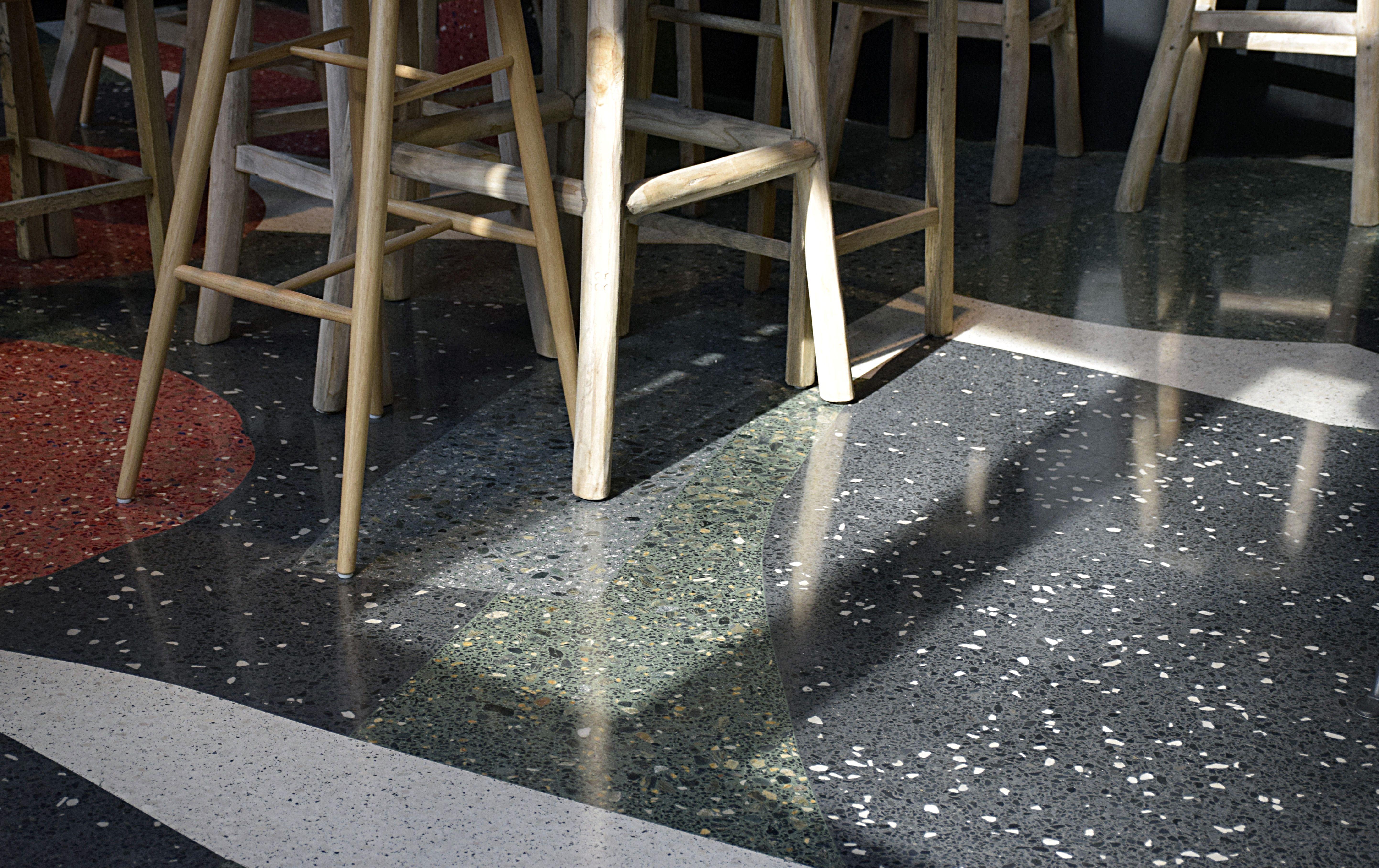 Sol En Granito Terrazzo Granulat De Marbre Chape Ancien