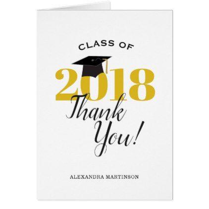 Class of 2018 Graduation Thank You Pinterest - thank you for graduation