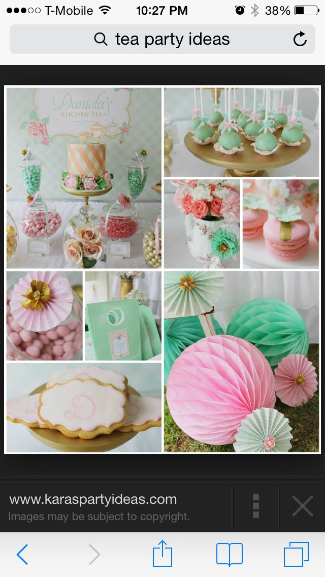 Pink and mint tea party