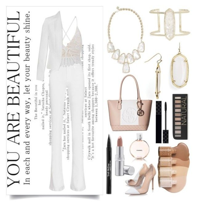 """You Are Beautiful (#54)"" by mayaismail on Polyvore featuring Kendra Scott, Frame Denim, Gianvito Rossi, Ally Fashion, Chanel, GUESS, Forever 21, Gucci, Trish McEvoy and La Prairie"