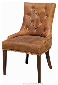 Ordinaire R 1071 Antique Brown Accent Leather Dining Chair   Rustic   Dining Chairs    ARTEFAC