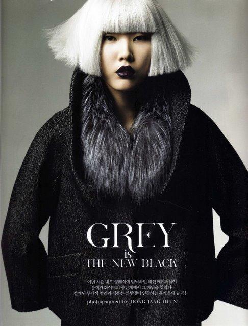 Perfect Grey Is The New Black (Vogue Korea) Amazing Design