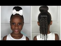 Quick & Easy 10 Min Sock Bun Hairstyle #1 | Kids Natural Hairstyle ...
