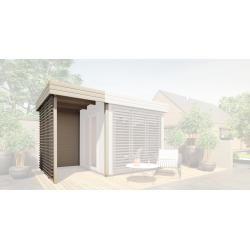 Photo of Estensione del tetto per le case da giardino Nefud e Taklamakan 28 mm, colore: grigio / antracite – dimensioni esterne (L x