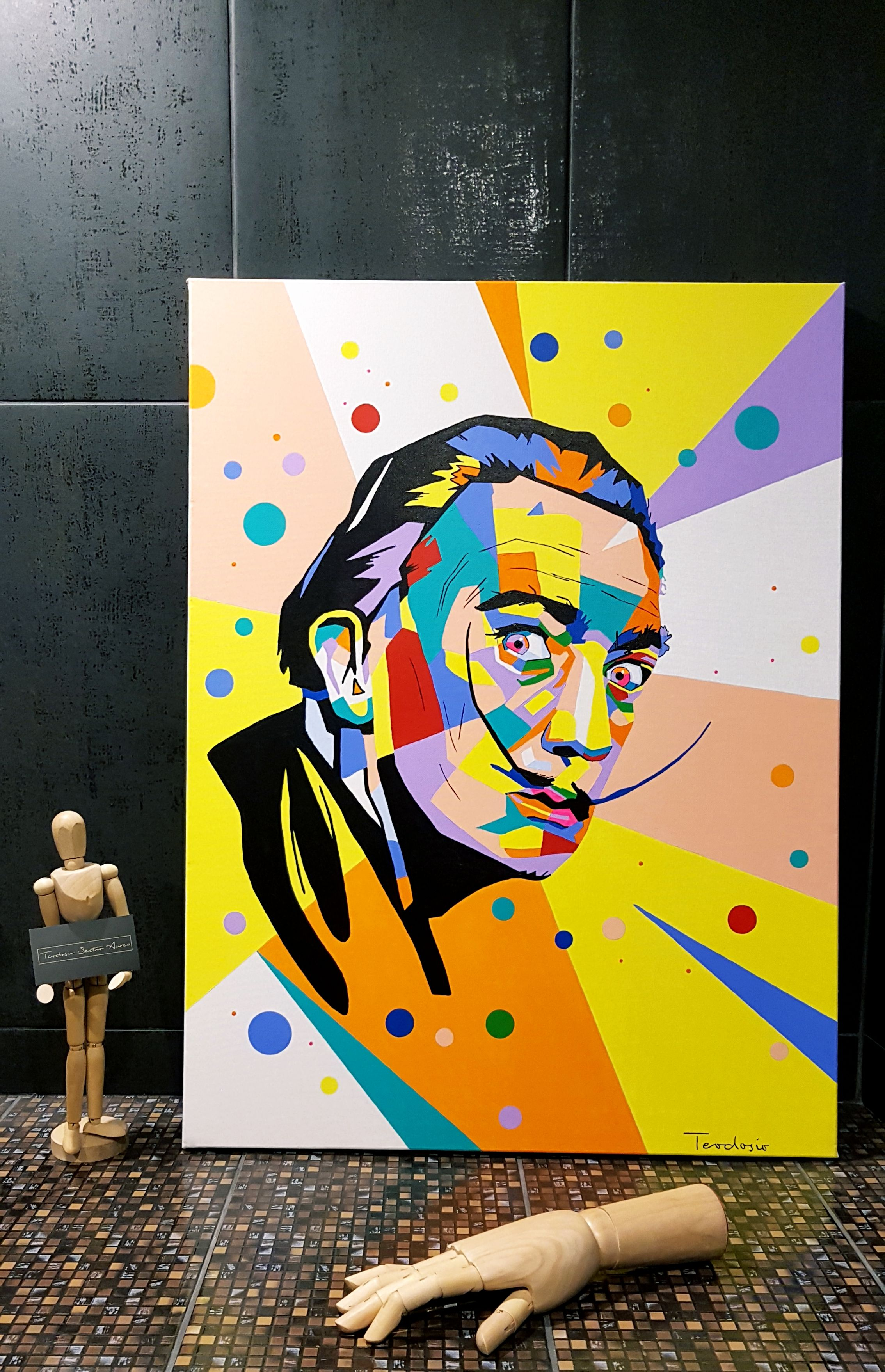 My new artwork ''Salvador Dali'' pop art - geomtery...  #teodosio #art #popart #dali #salvadordali #teodosiosectioaurea #myart