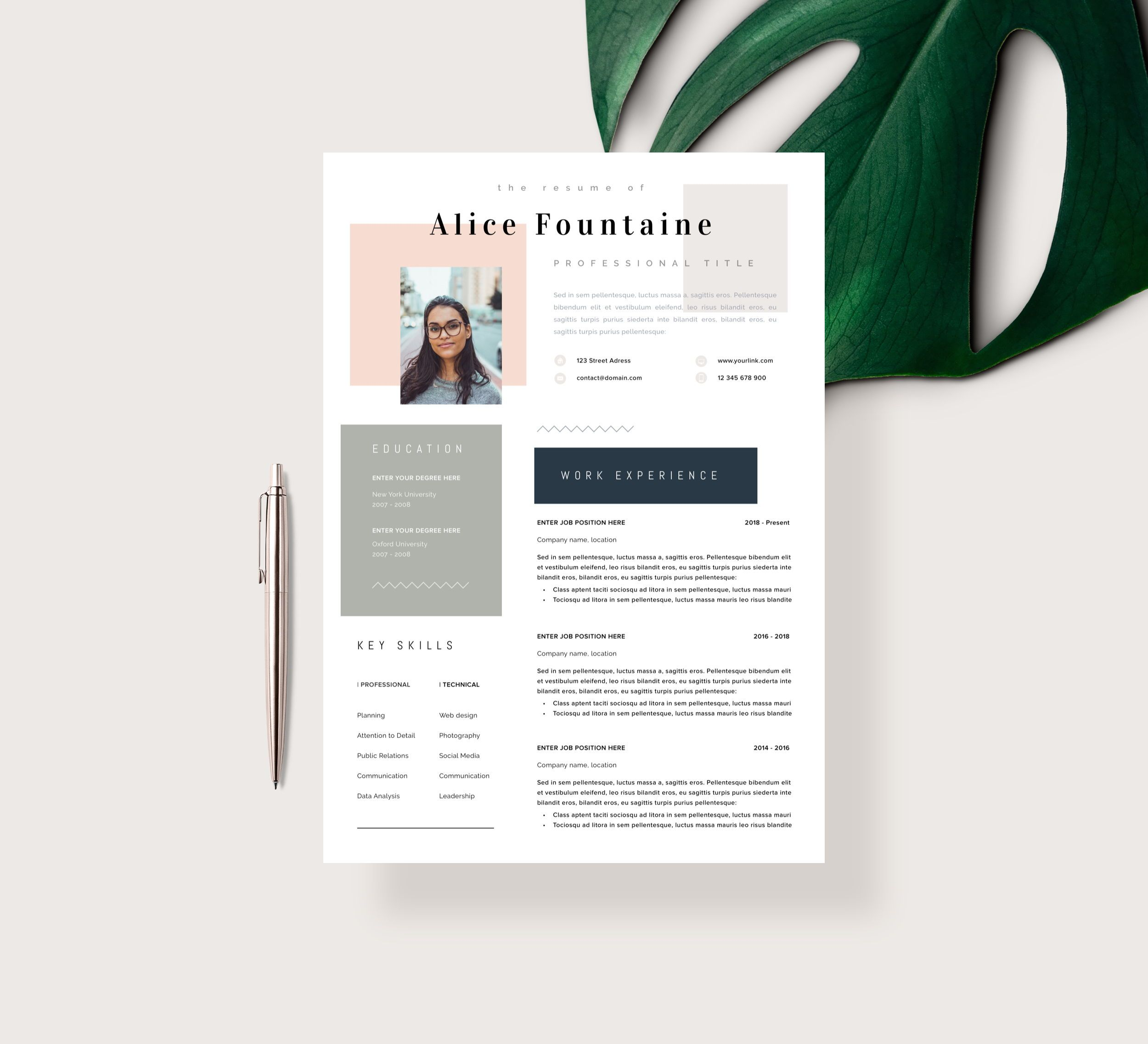 18 Free Resume Templates for Microsoft Word Resume