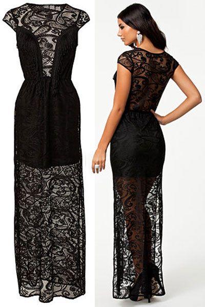 M 40 tiendaonline 39 38 es moda vestidos Largo cocoylola De Precio L shop Color Negro 99€ Talla Encaje españa Cocoylola Cocktail Vestido wAH8gq
