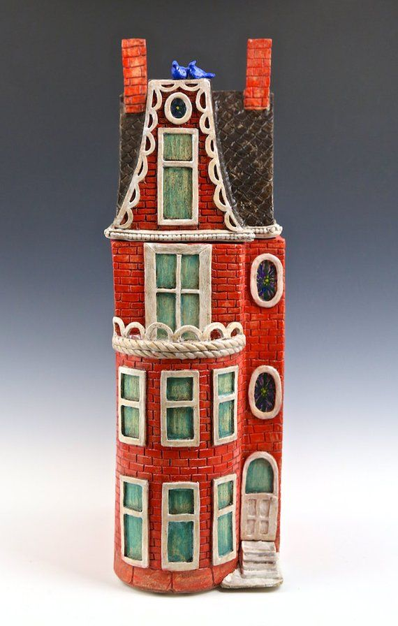Best Tomato Red Row House Washington Dc Row House Ceramic Sculpture Architectural Sculpture 400 x 300