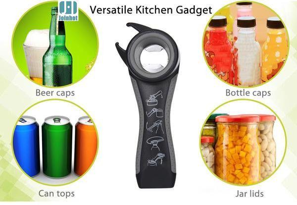 5 in 1 Multi Function Universal Kitchen Tool Can Jar Wine Beer Bottle Opener #Unbranded