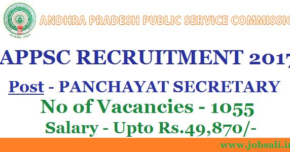 Appsc Recruitment 2017 Apply Online For Panchayat Secretary Jobs