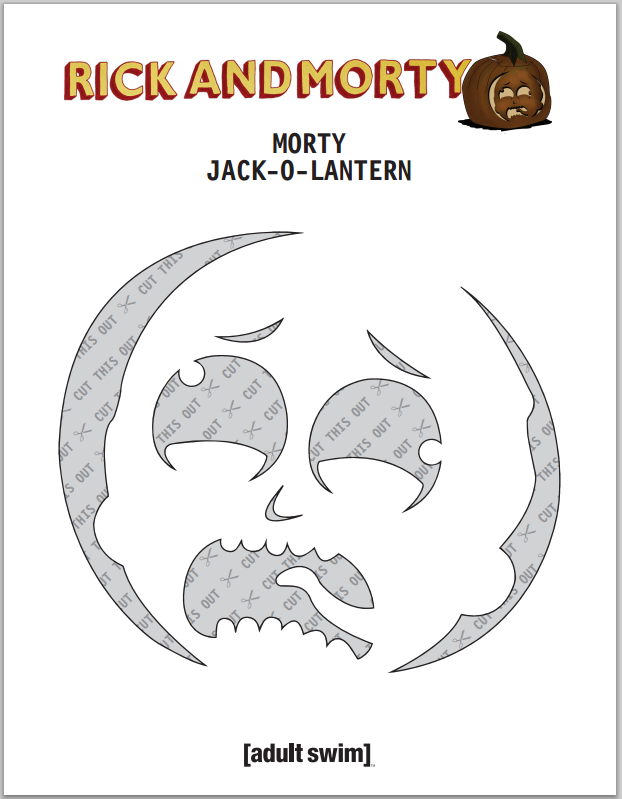 pumpkin template rick and morty  Just found out Adult Swim is providing Rick and Morty Jack-O ...