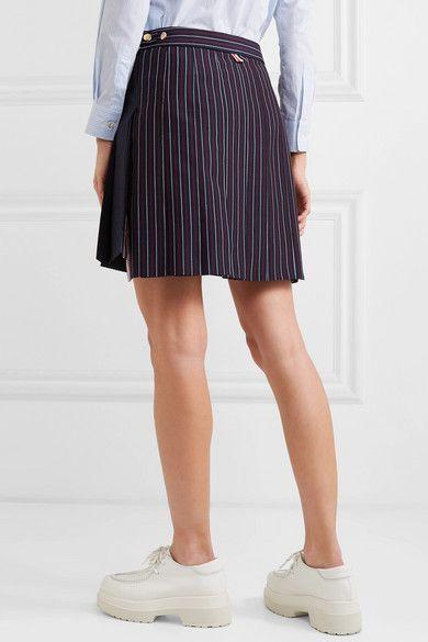55fc76d08 Thom Browne | Pleated pinstriped wool mini skirt | NET-A-PORTER.COM ...