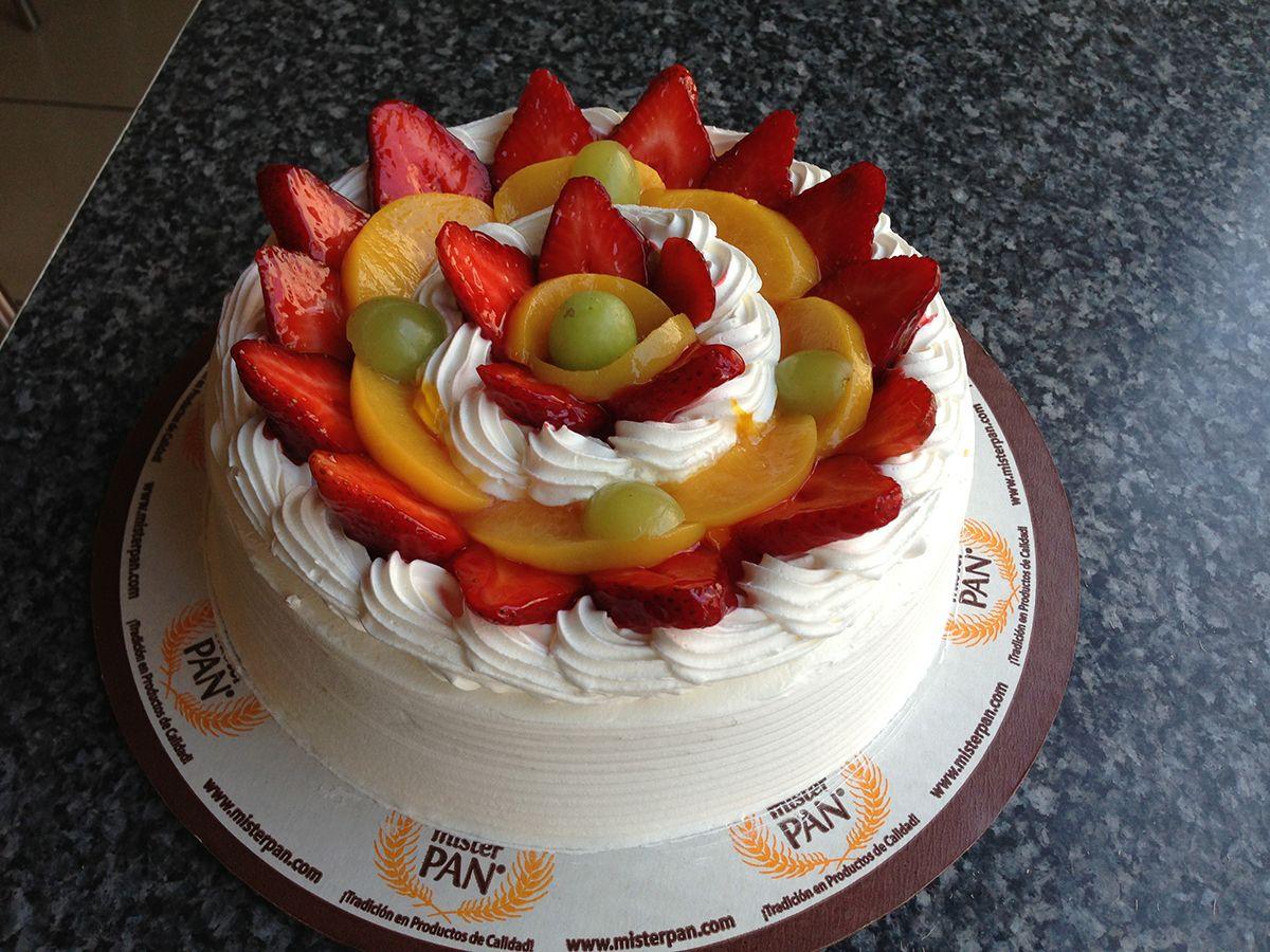 Riquisimo pastel tropical torta de vainilla relleno de - Decoracion de frutas ...