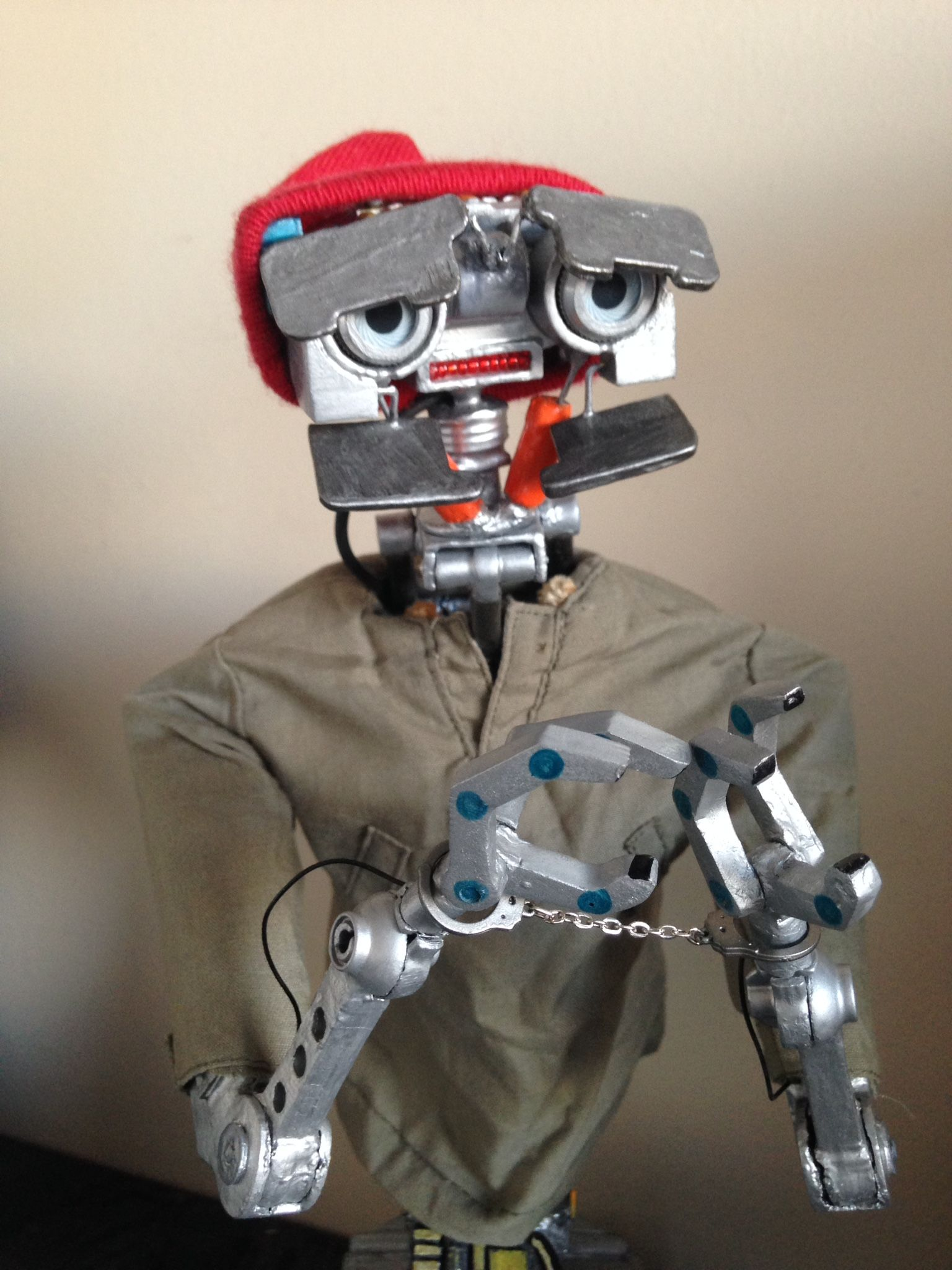 Johnny Five In Handcuffs Toy Robot V Short Circuit 1986 1988 Robots