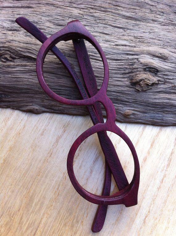 THANKS handmade purple wood wooden eyeglasses glasses frame