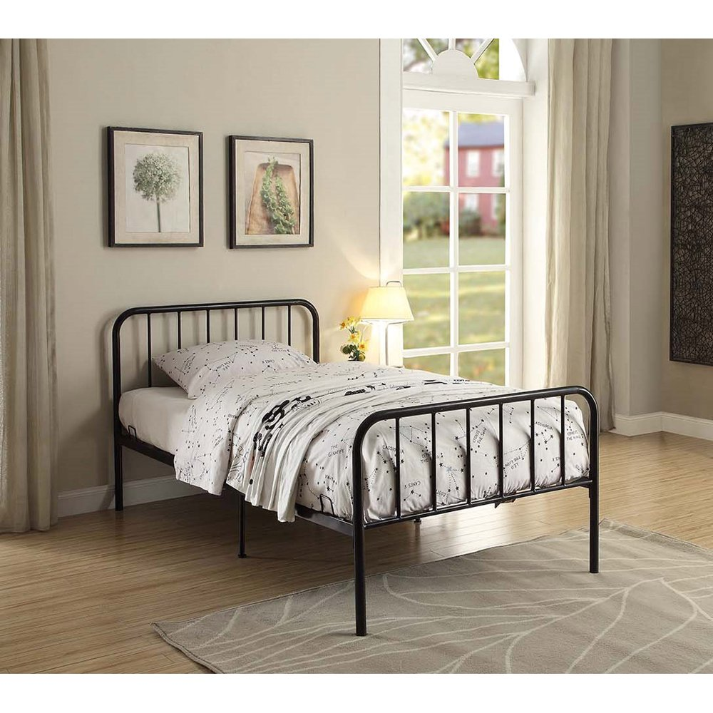 Modern Black Twin Metal Bed Twin Bed Frame Twin Platform Bed