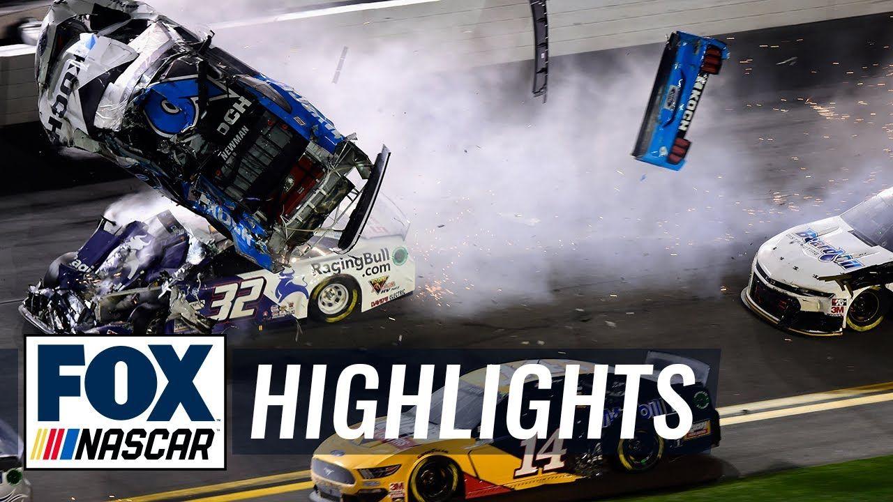 Denny Hamlin wins Daytona 500 as Ryan Newman's car flips