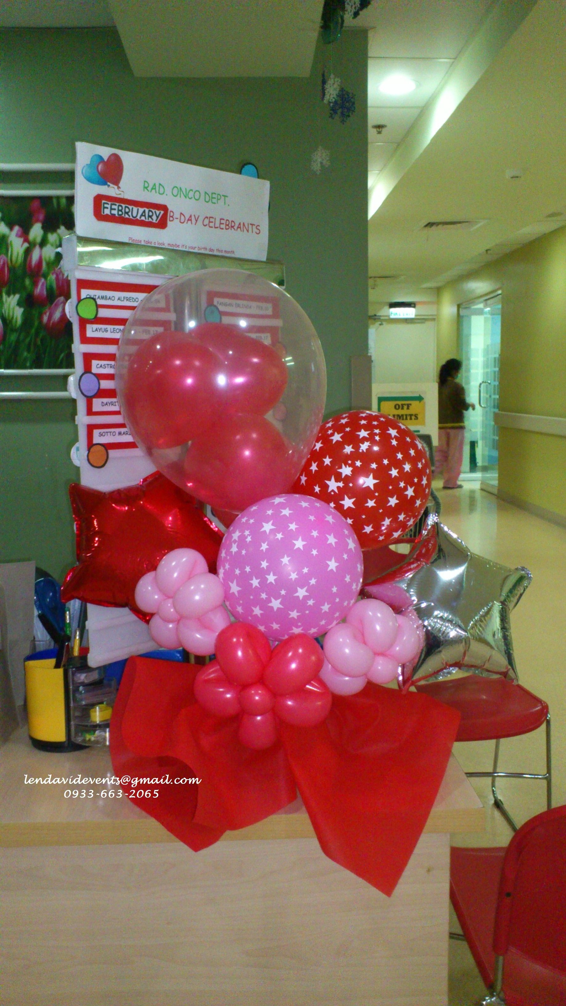Awesome Valentine Balloon Bouquet by Glam Fantasy Events/ lendavidevents@gmail.com