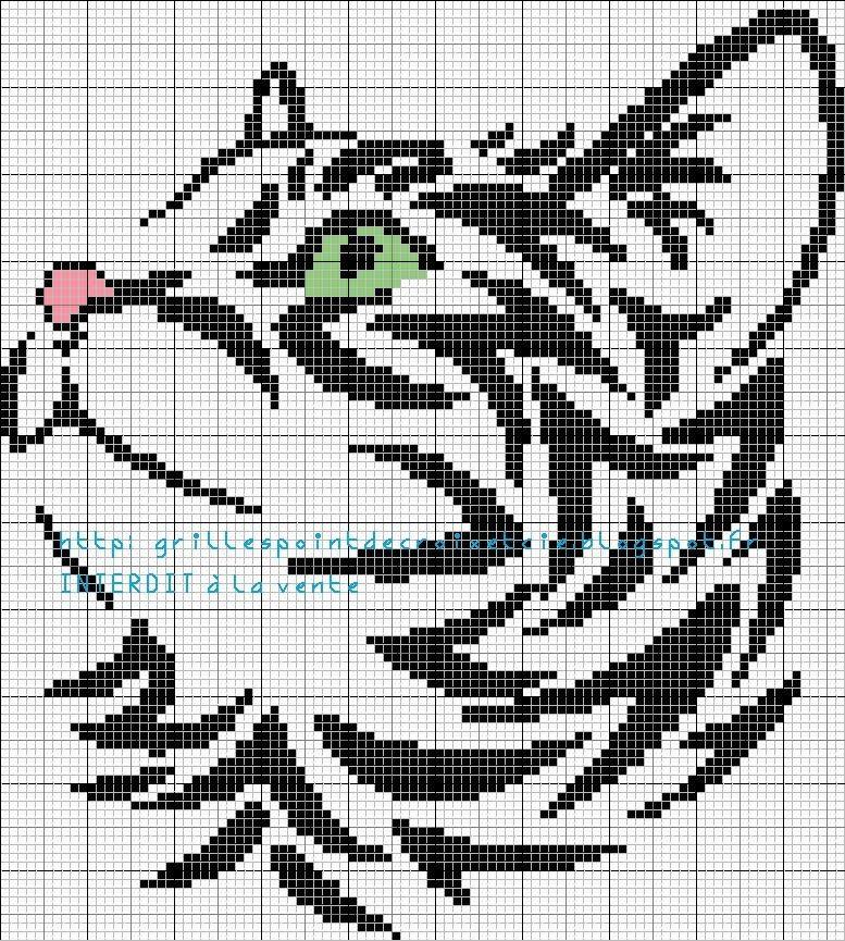 grilles point de croix et cie: 1,2,3.....4 grilles de chat