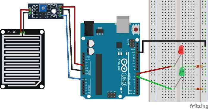 Guide for Rain Sensor FC-37 or YL-83 with Arduino | Random Nerd