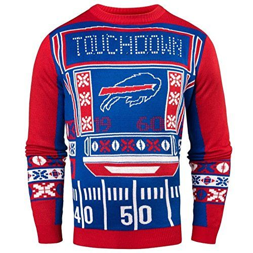 e0d2e661c33f5 Forever Collectibles NFL Mens Ugly Light Up Crew Neck Sweater ...