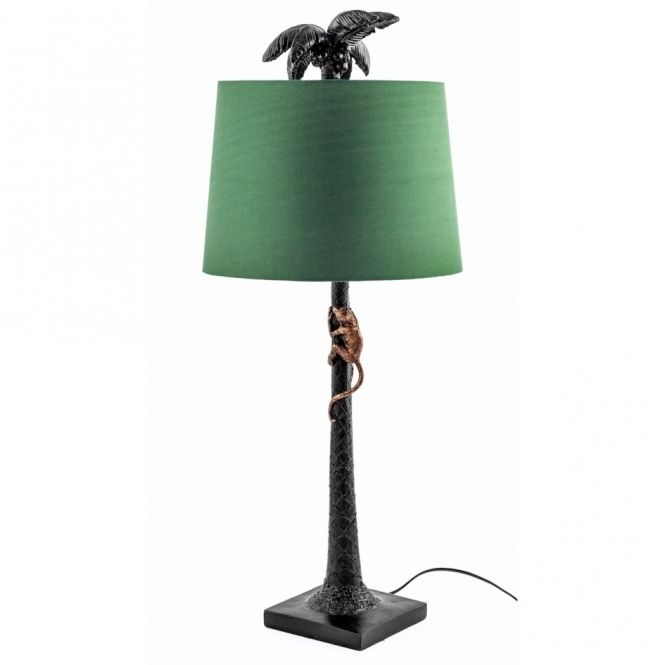 Hurn hurn discoveries palm tree monkey table lamp with shade designs for design lovers pinterest
