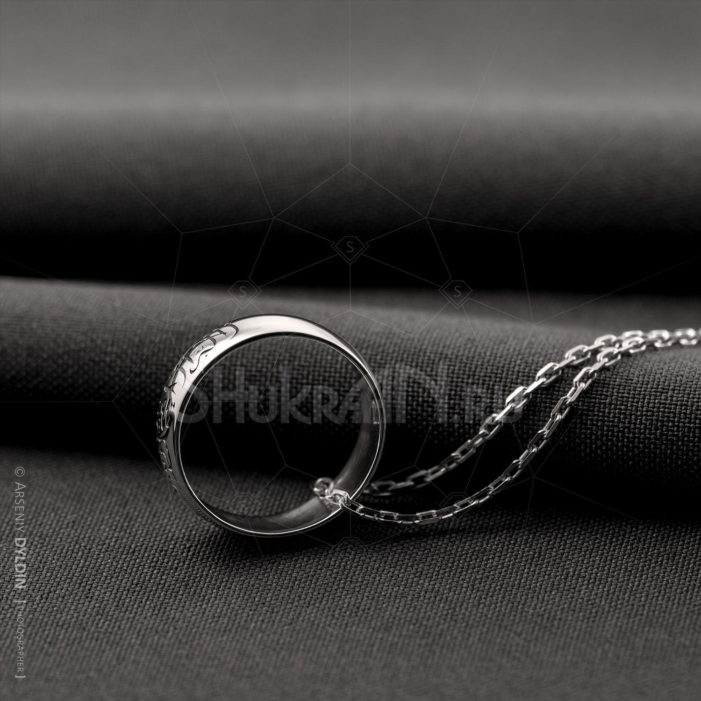 Мусульманское кольцо Шахада из серебра 925 ширина 6 мм ...